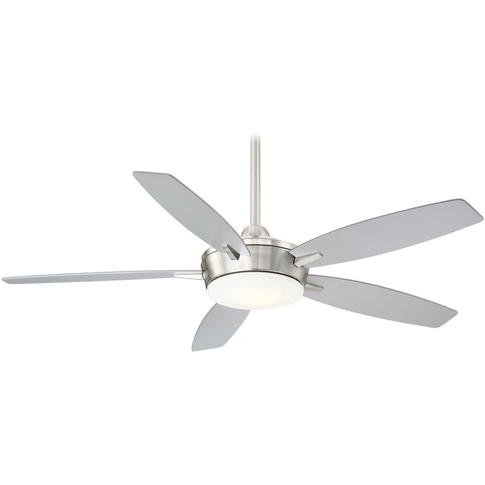 "Minka Aire F690L-BN/SL Espace Brushed Nickel 52"" LED Ceiling Fan with Remote Control"
