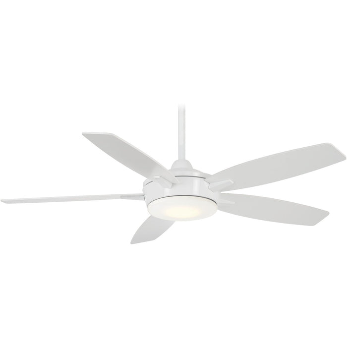 "Minka Aire F690L-WH Espace White 52"" LED Ceiling Fan with Remote Control"