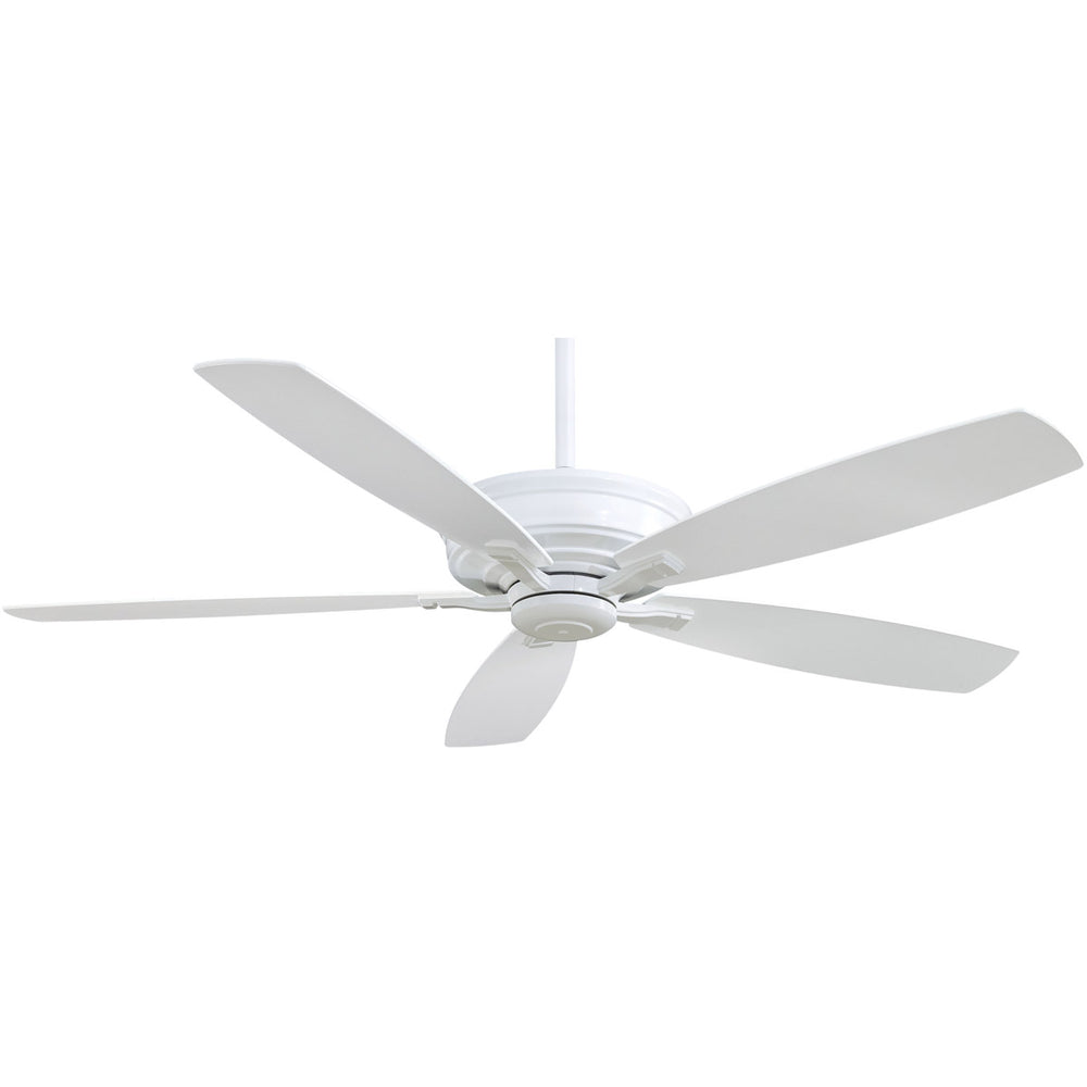 "Minka Aire F696-WH Kafe XL White 60"" Ceiling Fan with Remote Control"