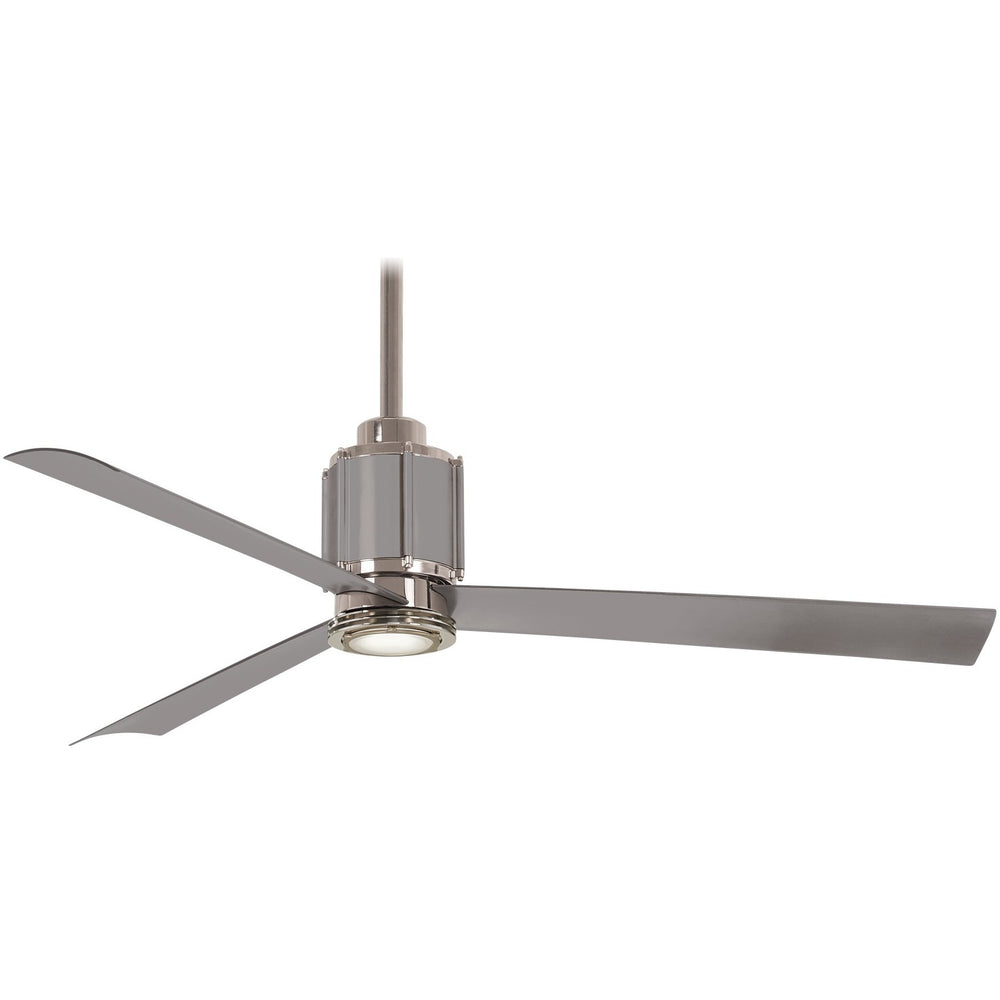 "Minka Aire F736L-PN/BS Gear Polished Nickel/Brushed Steel 54"" LED Ceiling Fan with Remote Control"