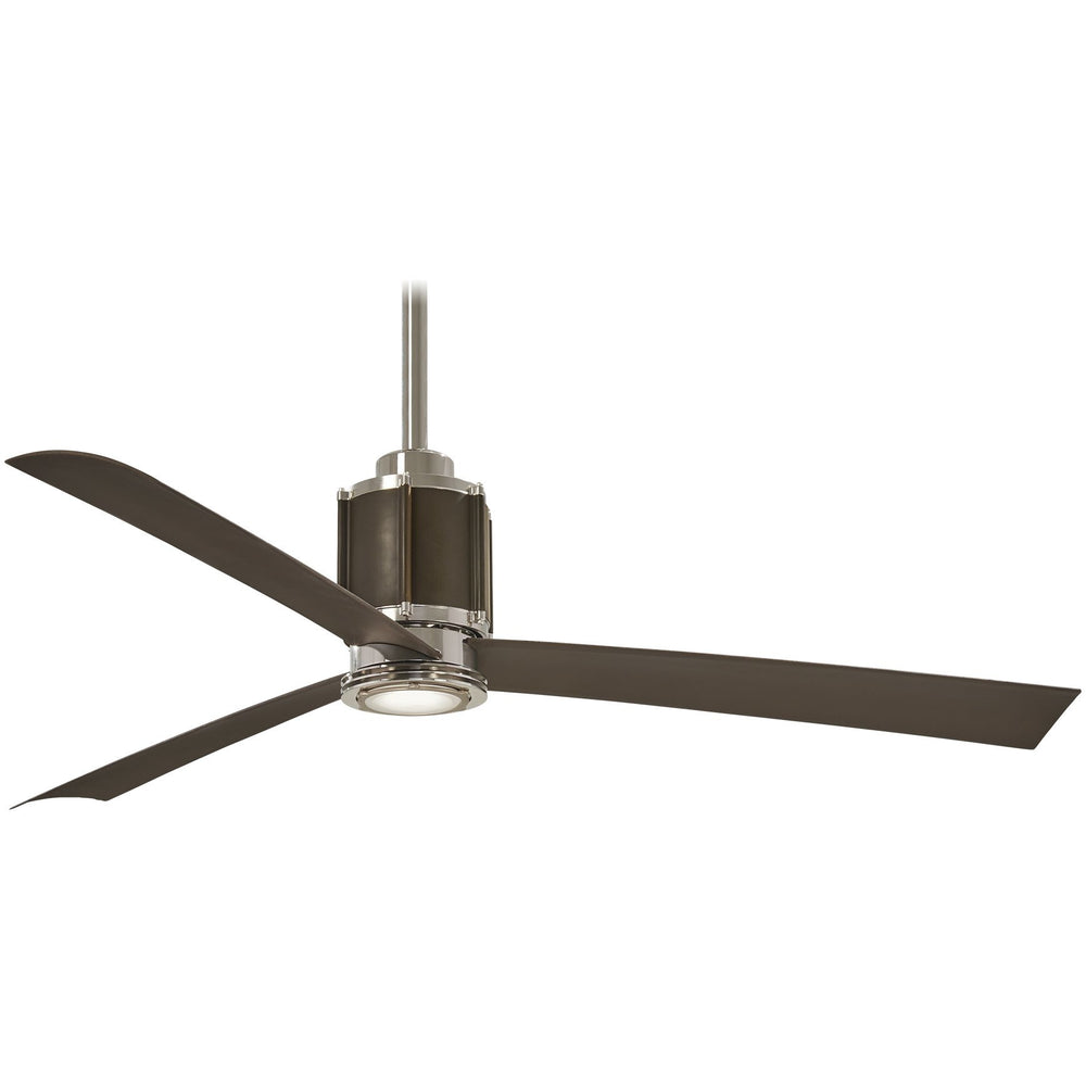 "Minka Aire F736L-PN/ORB Gear Polished Nickel 54"" LED Ceiling Fan with Remote Control"
