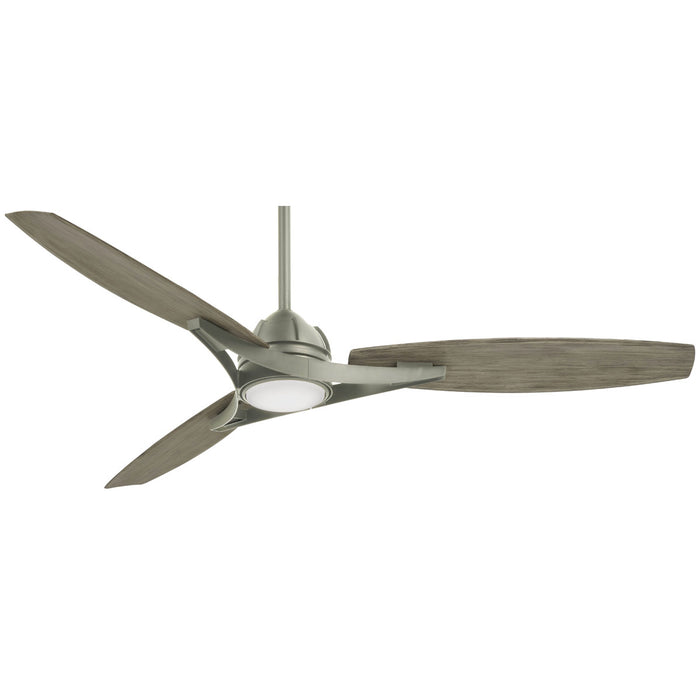 "Minka Aire Molino 65"" Brushed Nickel LED Ceiling Fan with Remote Control"