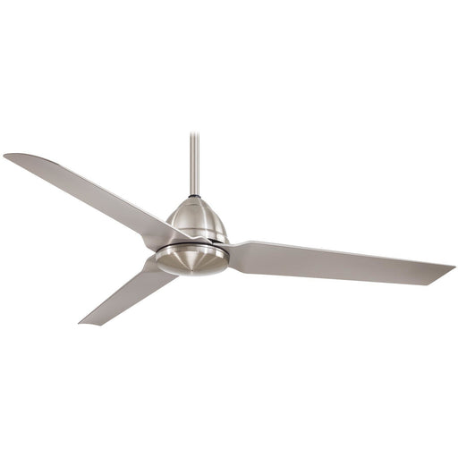"Minka Aire F753-BNW Java Brushed Nickel Wet 54"" Outdoor Ceiling Fan with Remote Control - ALCOVE LIGHTING"