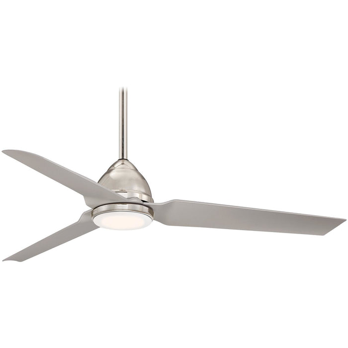 "Minka Aire F753L-PN Java LED Polished Nickel 54"" Indoor Ceiling Fan with Remote Control - ALCOVE LIGHTING"