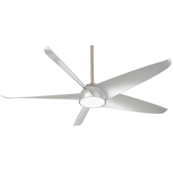 "Minka Aire Ellipse 60"" Brushed Nickel LED Ceiling Fan with Remote Control"