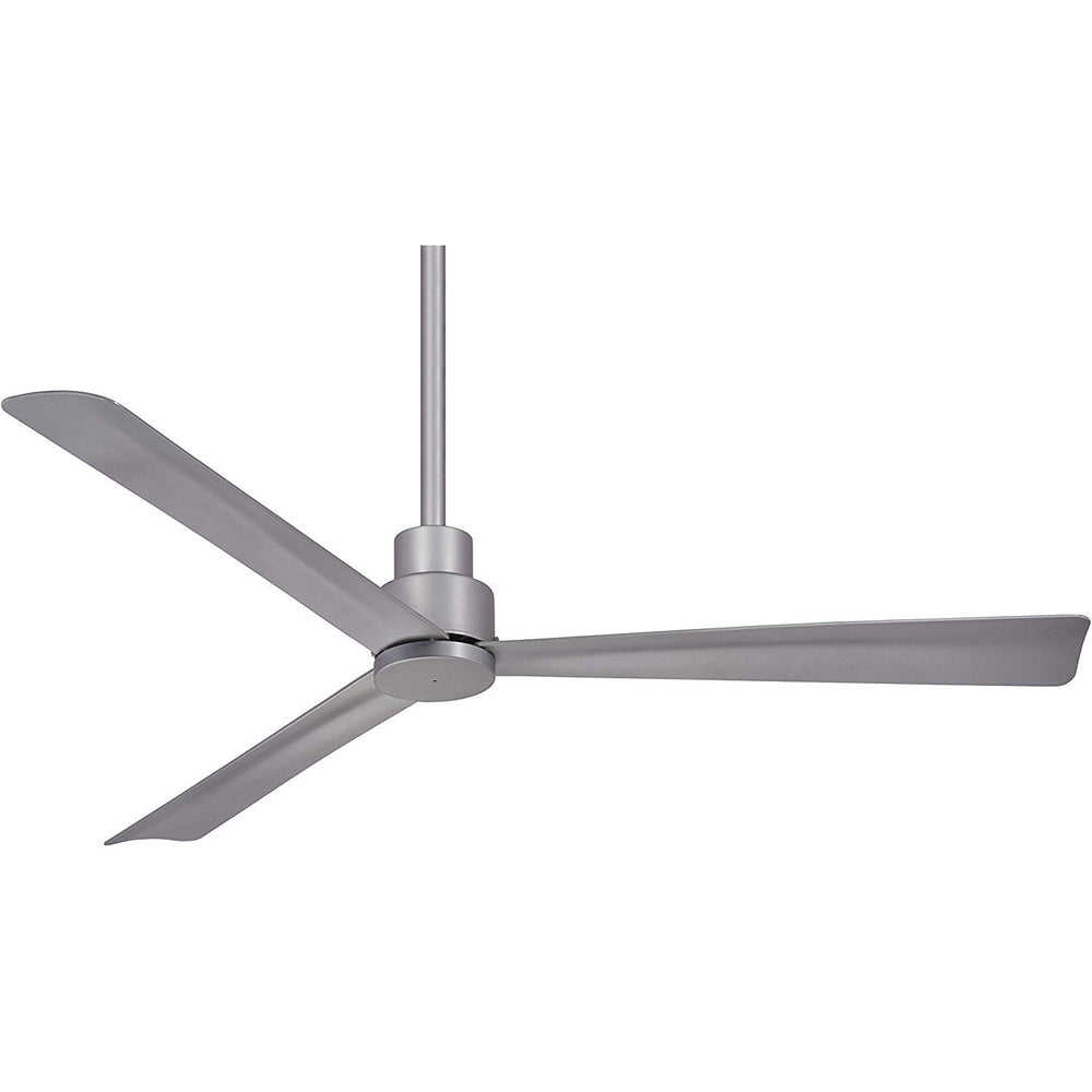 "Minka Aire F786-SL Simple Silver 44"" Outdoor Ceiling Fan with Remote Control"