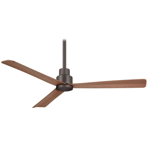 "Minka Aire F787-ORB Simple Oil Rubbed Bronze 52"" Outdoor Ceiling Fan with Remote Control - ALCOVE LIGHTING"