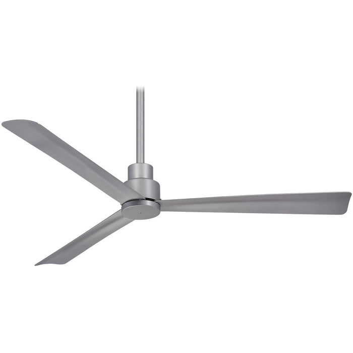 "Minka Aire F787-SL Simple Silver 52"" Outdoor Ceiling Fan with Remote Control - ALCOVE LIGHTING"