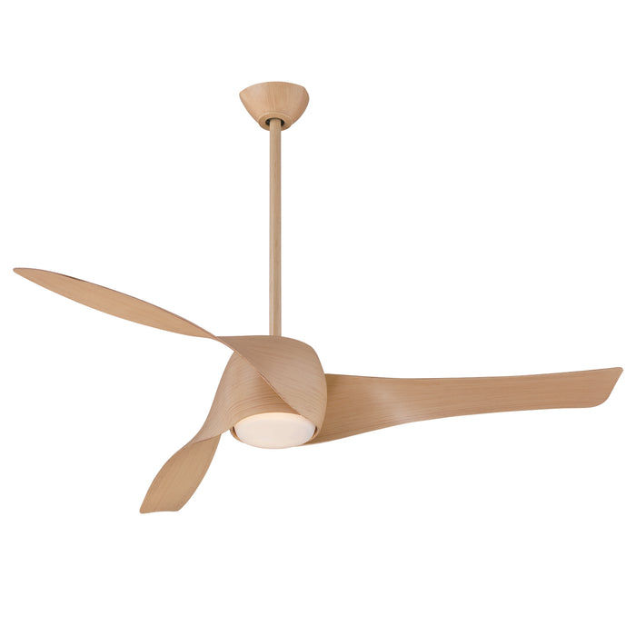 "Minka Aire Artemis 58"" 3-Blade LED Smart Ceiling Fan in Maple Finish with Remote"