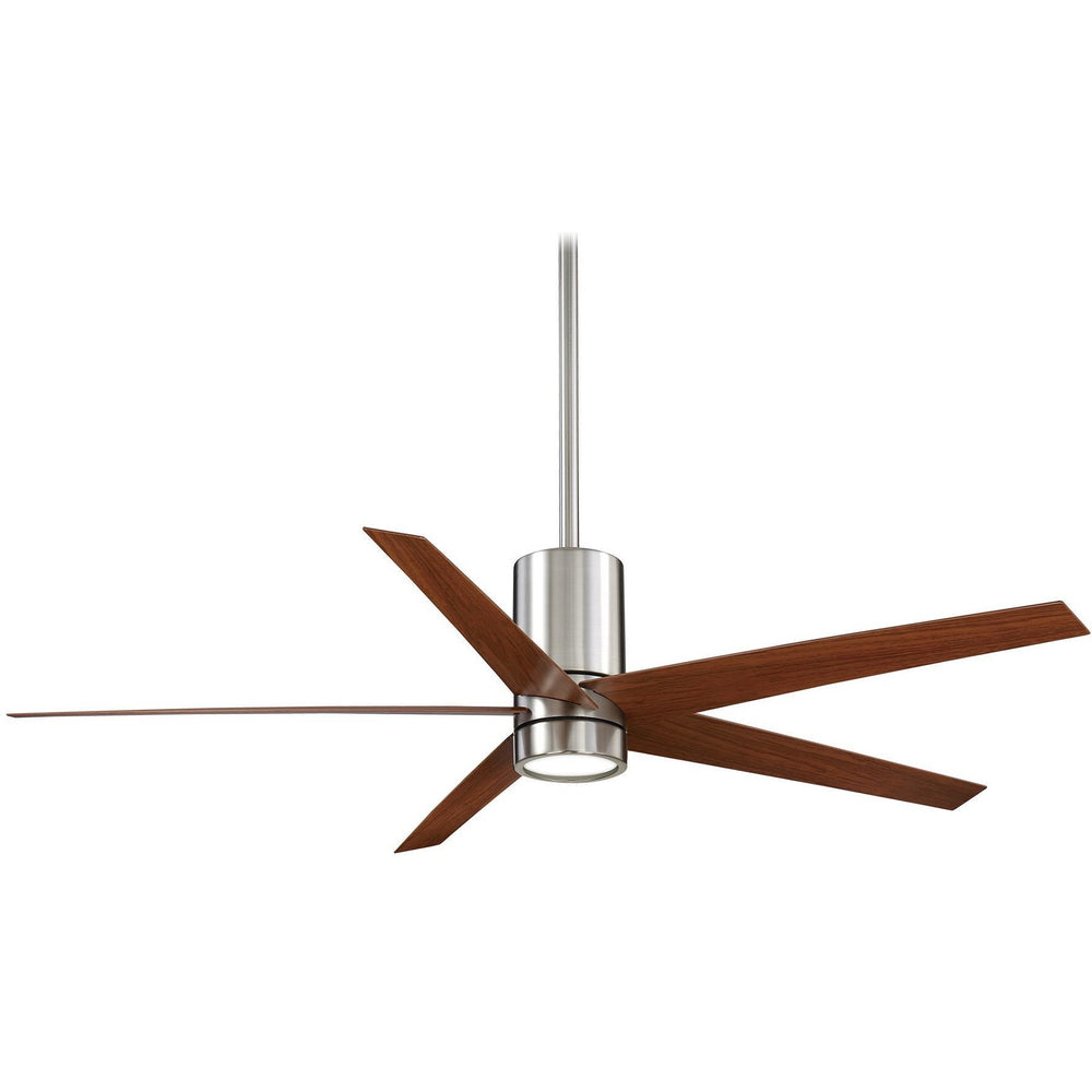 "Minka Aire F828-BN/DW Symbio Brushed Nickel 56"" Ceiling Fan with Remote Control - ALCOVE LIGHTING"
