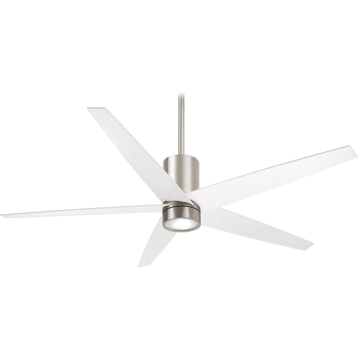 "Minka Aire F828-BN/WH Symbio Brushed Nickel 56"" Ceiling Fan with Remote Control - ALCOVE LIGHTING"