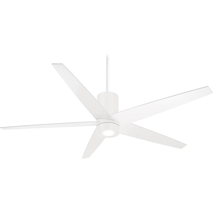 "Minka Aire F828-WHF Symbio Flat White 56"" Ceiling Fan with Remote Control - ALCOVE LIGHTING"