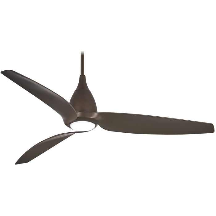 "Minka Aire F831L-ORB Tear Silver 60"" LED Ceiling Fan with Remote Control"
