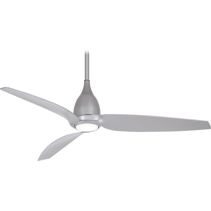"Minka Aire F831L-SL Tear Silver 60"" LED Ceiling Fan with Remote Control"