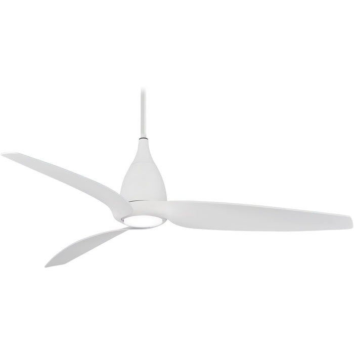 "Minka Aire F831L-WHF Tear Silver 60"" LED Ceiling Fan with Remote Control"
