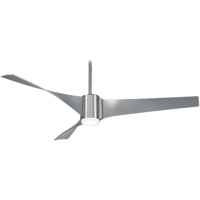 "Minka Aire F832L-BN/SL Triple Brushed Nickel 60"" Ceiling Fan with Remote Control"