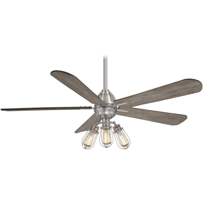 "Minka Aire F852L-BN Alva Brushed Nickel 56"" LED Ceiling Fan with Remote Control"