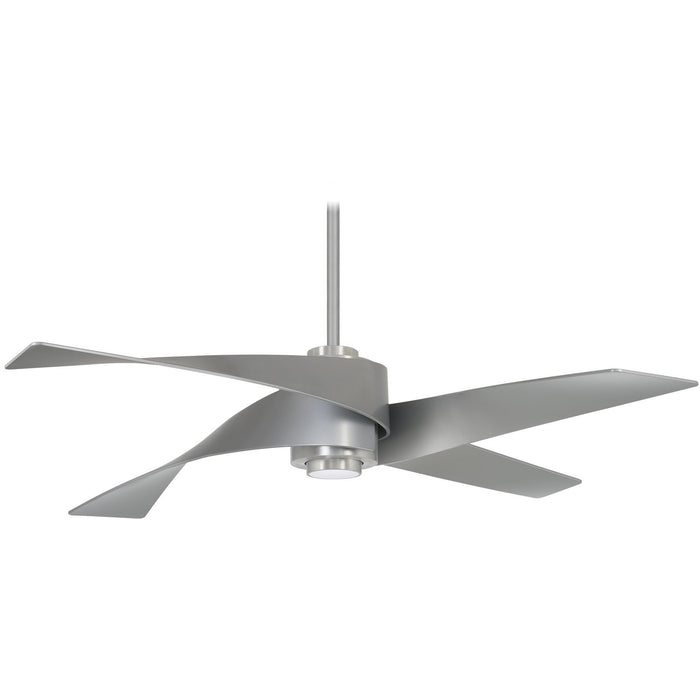 "Minka Aire F903L-BN/SL Artemis IV Brushed Nickel 64"" Ceiling Fan with Remote"