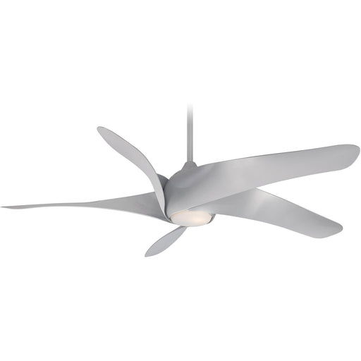 "Minka Aire F905L-SL Artemis XL5 Silver 62"" Ceiling Fan with Remote Control - ALCOVE LIGHTING"