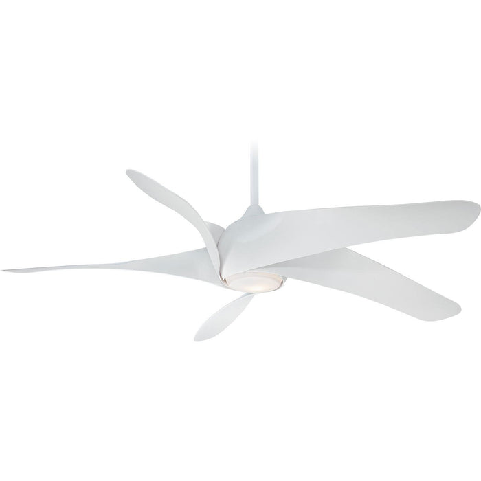 "Minka Aire F905L-WH Artemis XL5 White 62"" Ceiling Fan with Remote Control - ALCOVE LIGHTING"