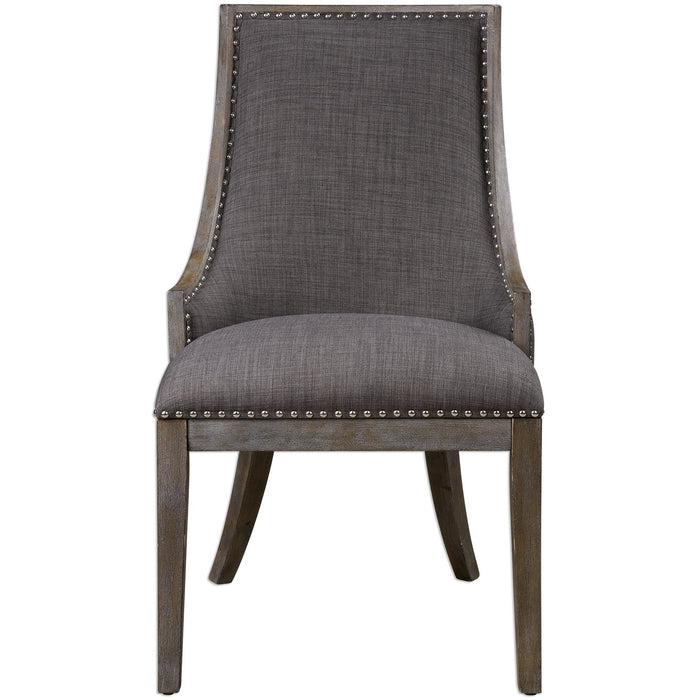 Uttermost 23305 Aidrian Charcoal Gray Accent Chair