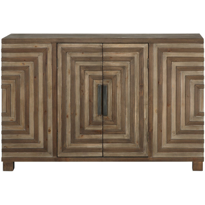 Uttermost 24773 Layton Geometric Console Cabinet