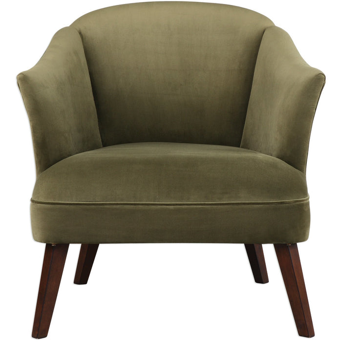 Uttermost 23321 Conroy Olive Accent Chair