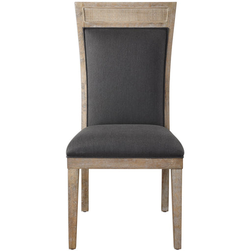 Uttermost 23440 Encore Dark Gray Armless Chair