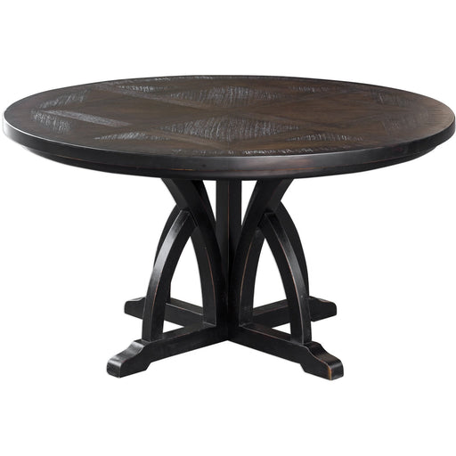 Uttermost 25861 Maiva Round Black Dining Table