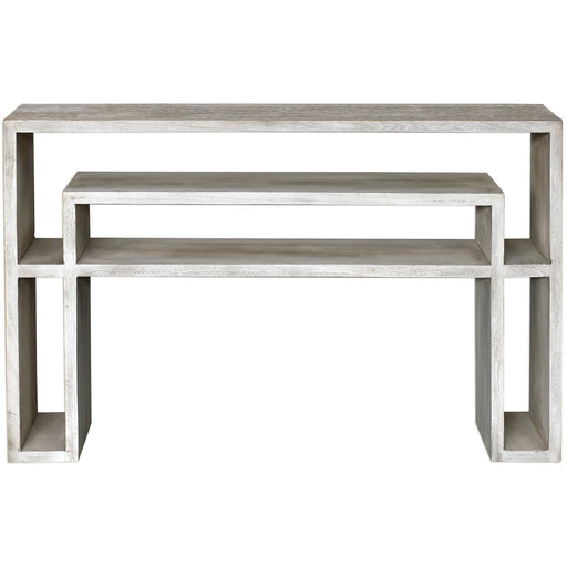 Uttermost 25839 Genara Bone White Carved Console Table