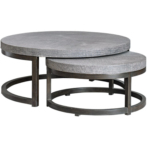 Uttermost 25882 Aiyara Gray Nesting Tables Set of 2