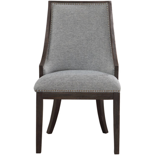Uttermost 23481 Janis Ebony Accent Chair