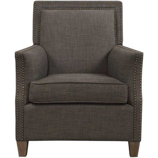 Uttermost 23472 Darick Charcoal Armchair