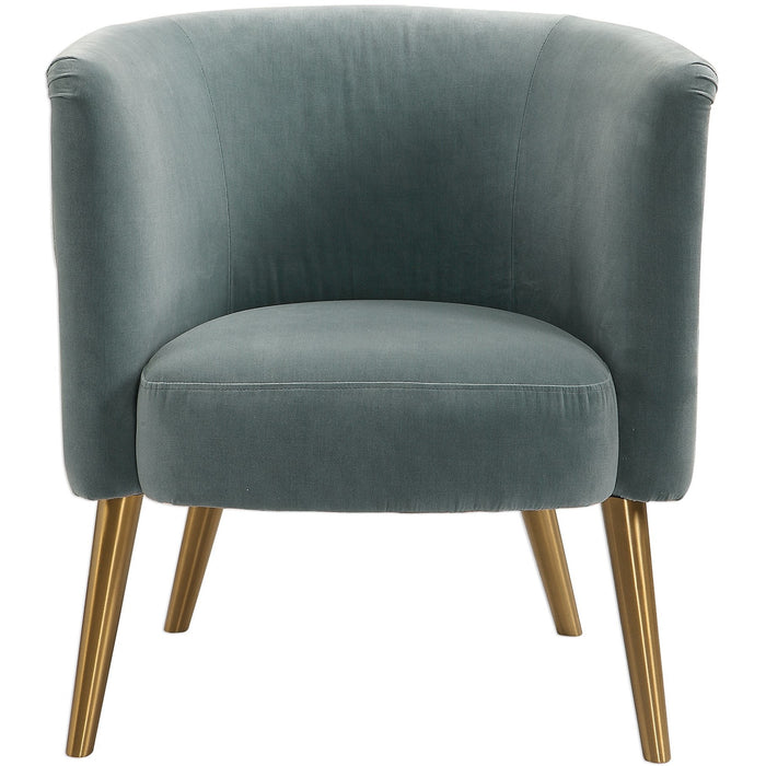 Uttermost 23480 Haider Gray Accent Chair