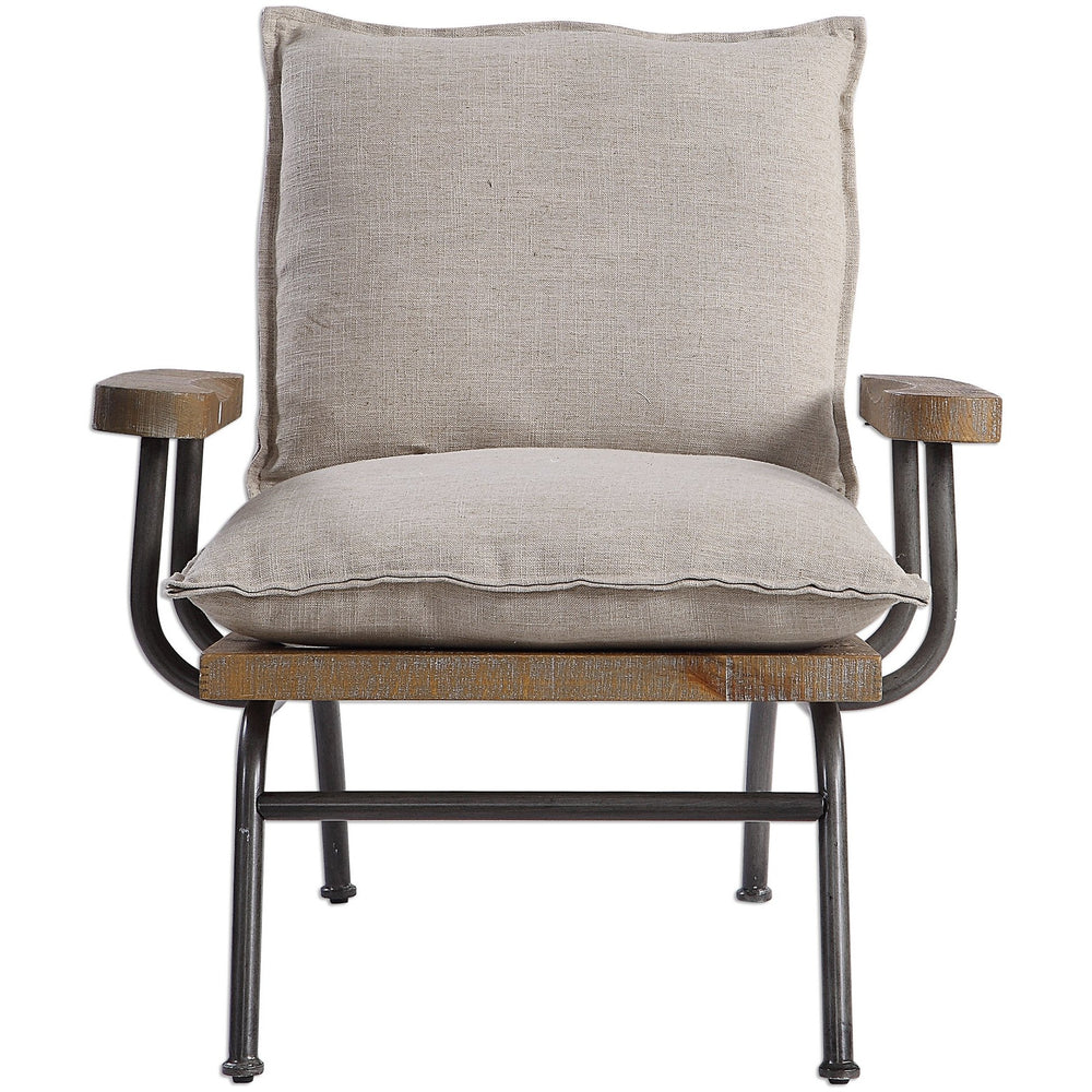 Uttermost 23475 Declan Industrial Accent Chair