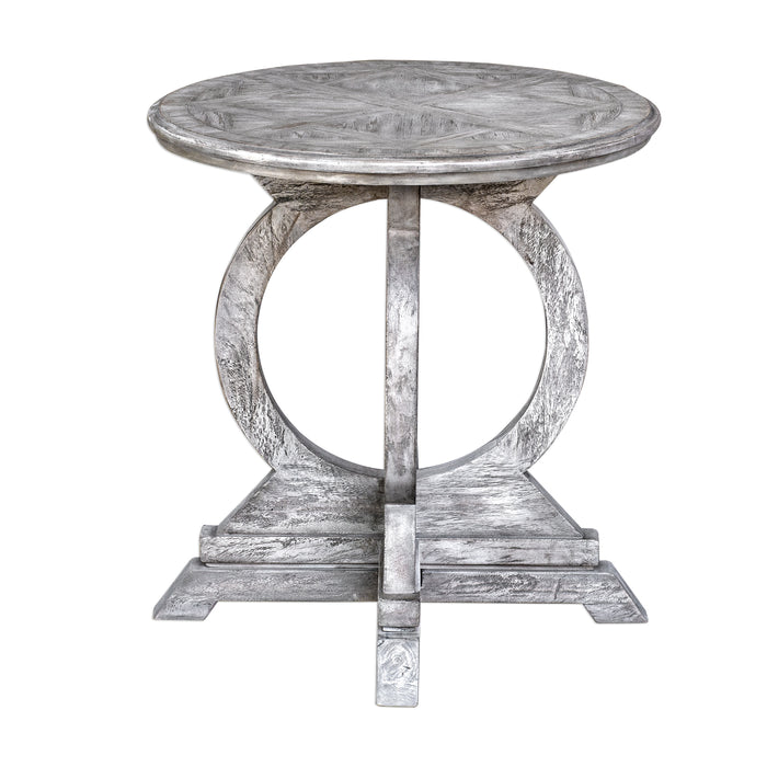 Uttermost 25426 Maiva White Accent Table
