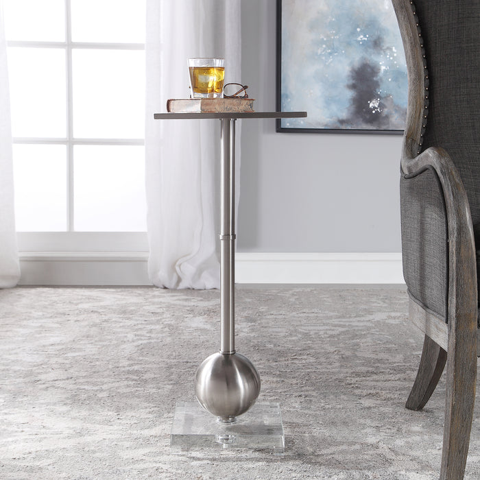 Uttermost 24906 Laton Silver Accent Table