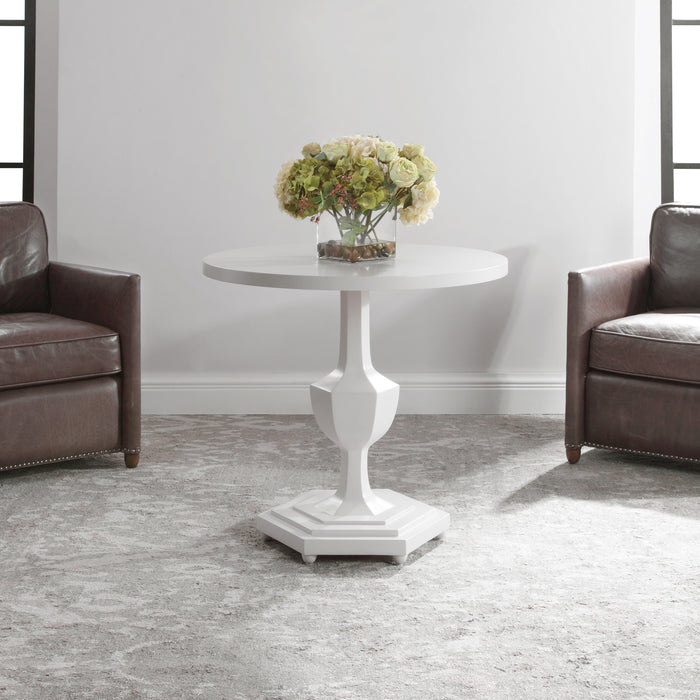 Uttermost 24945 Kabarda White Foyer Table