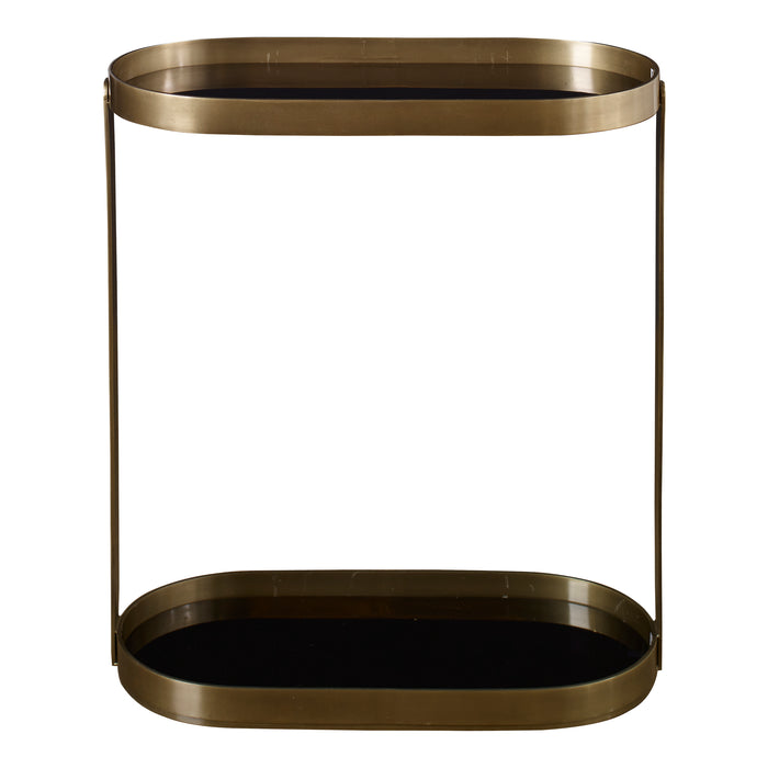 Uttermost 25081 Adia Antique Gold Side Table