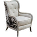 Uttermost 23611 Chalina High Back Armchair