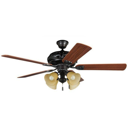 "Craftmade GD52ABZ5C Grandeur Aged Bronze Brushed 52"" Ceiling Fan"