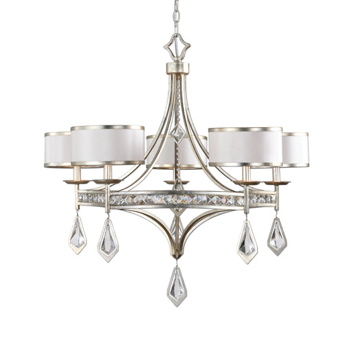 Uttermost 21268 Tamworth 5 Light Silver Champagne Chandelier
