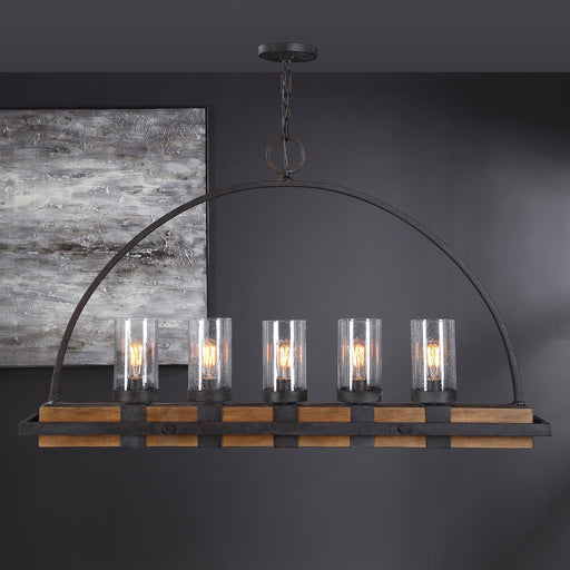 Uttermost 21328 Atwood 5 Light Rustic Linear Chandelier
