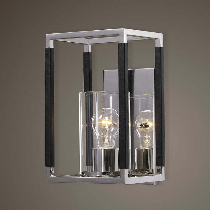 Uttermost 22527 Newburgh 1 Light Nickel Sconce