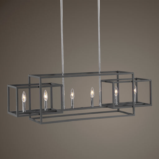 Uttermost 21339 Quadrangle 6 Light Rectangular Chandelier
