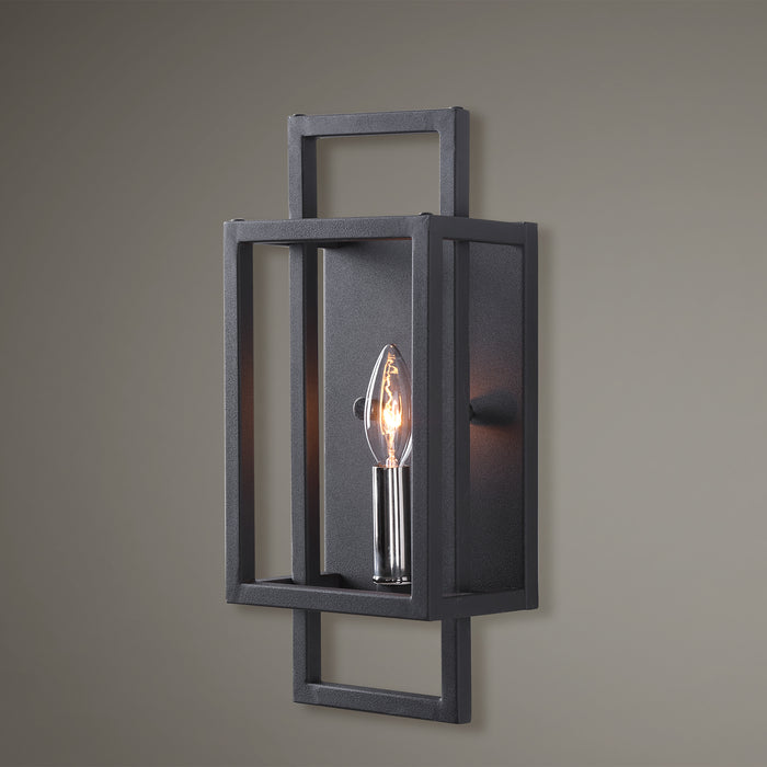 Uttermost 22535 Quadrangle 1 Light Black Sconce