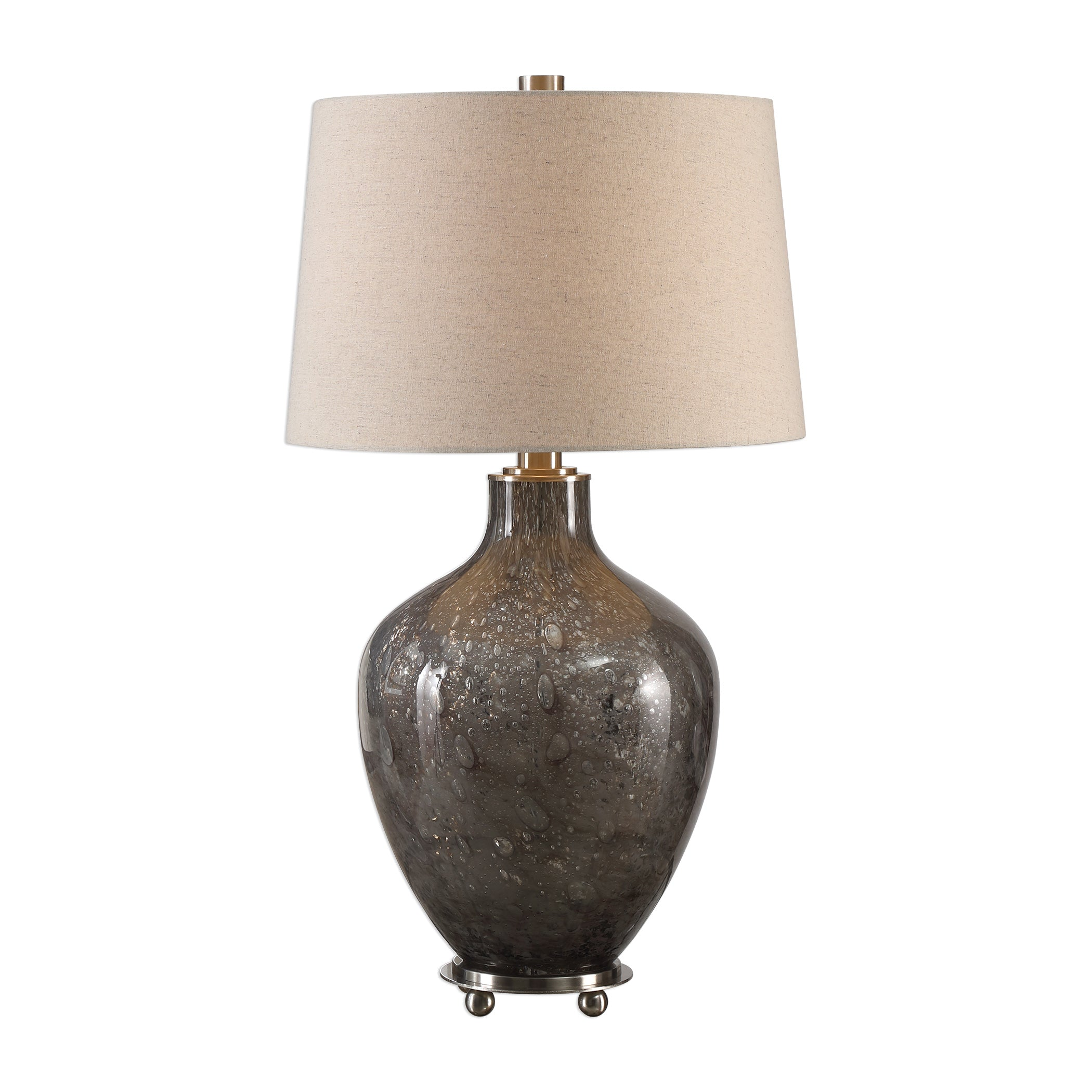 Uttermost 27802 Adria Transparent Gray Glass Lamp