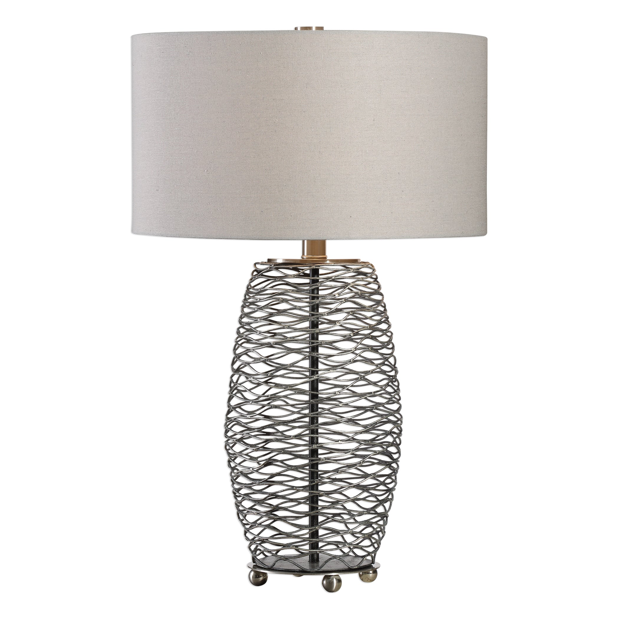 Uttermost 27768-1 Sinuous Wavy Steel Mesh Lamp