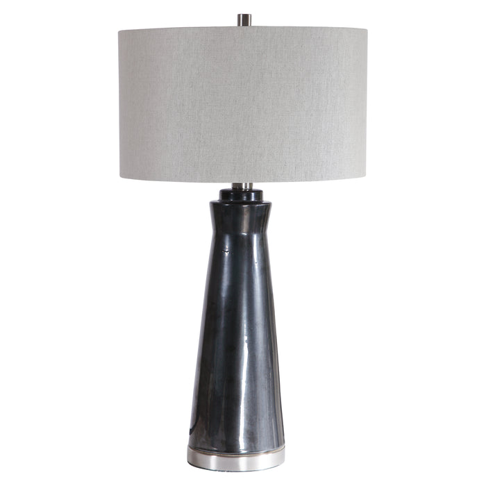 Uttermost 28207-1 Arlan Dark Charcoal Table Lamp