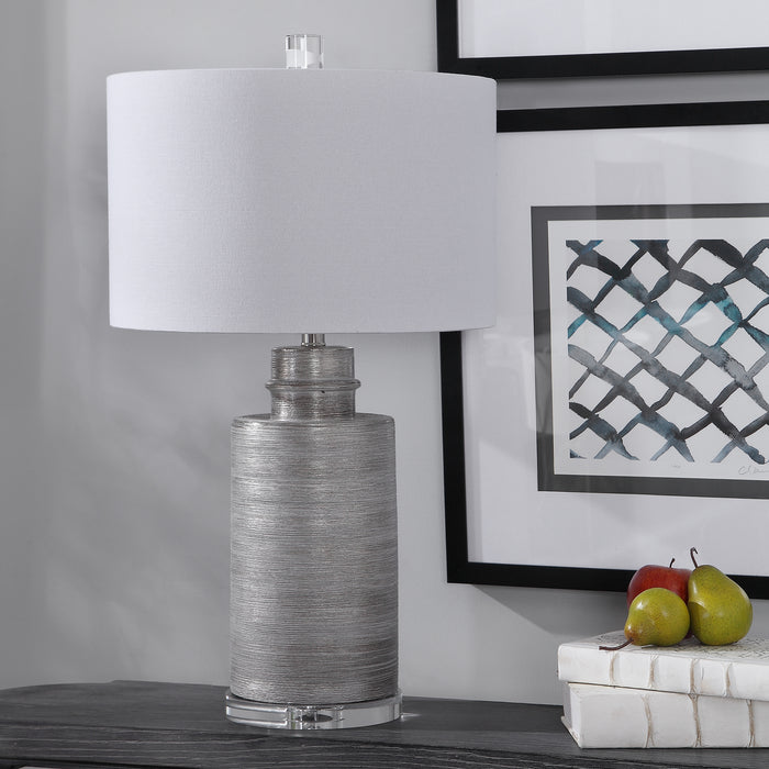 Uttermost 28263-1 Anitra Metallic Silver Table Lamp